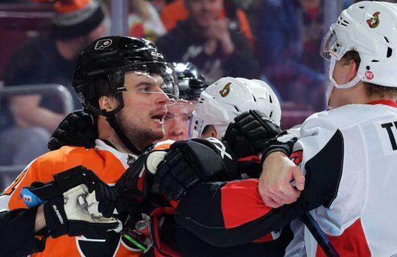 Ottawa Senators' Brady Tkachuk fined for cross-checking Philadelphia Flyers' Scott Laughton