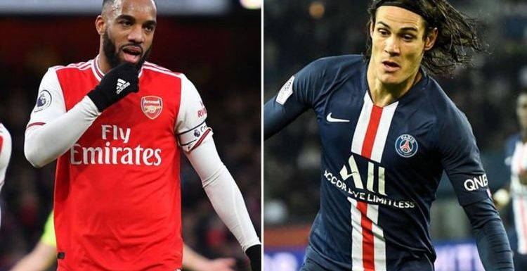 Arsenal star Alexandre Lacazette transfer could be triggered by Edinson Cavani decision