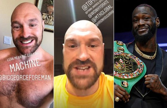 Fury spars 10 rounds with four boxers ahead of Wilder rematch
