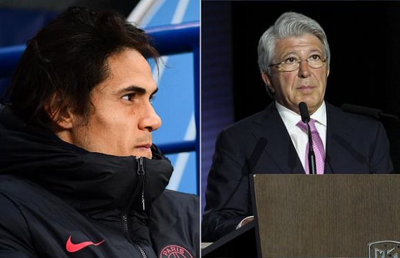 Atletico president reveals Cavani is not close to moving to club