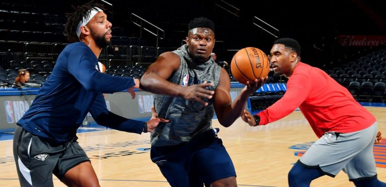 For now, the Zion Williamson show is still a pregame-only affair