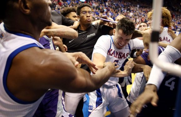 For 3: Kansas' win over Kansas State ends in melee