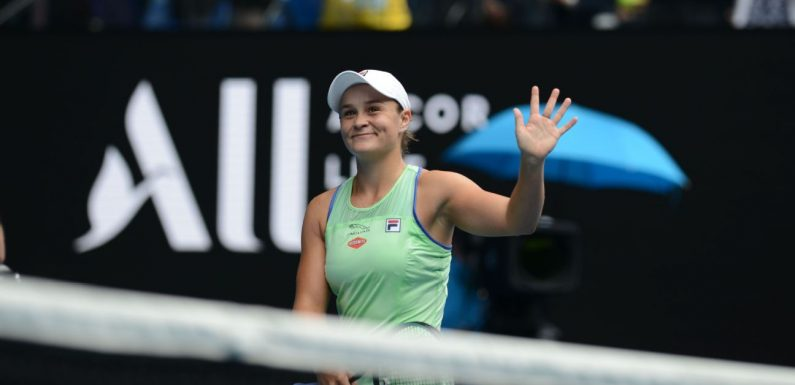 Everything falling into place for Barty in Melbourne