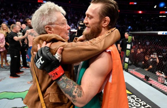 Conor McGregor hugs Cowboy Cerrone's grandmother after 40 second knockout win