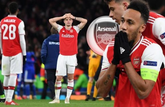 Arsenal star Aubameyang near to tears and left feeling 'very bad' by shock Olympiakos miss