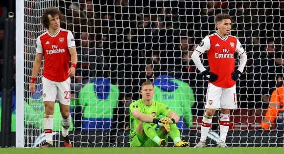 Arteta blasts 'unacceptable' Olympiacos winner after Leno error in Arsenal loss