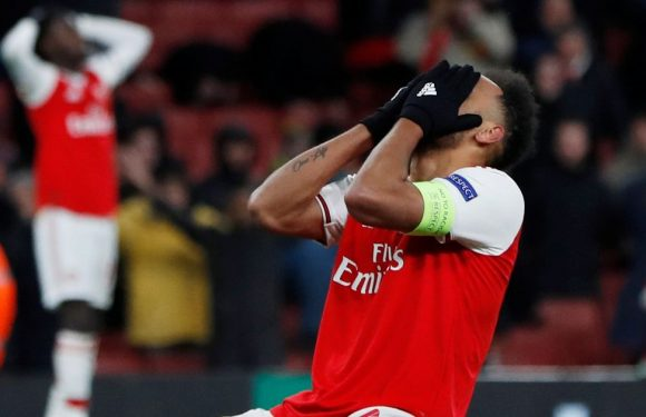 Aubameyang admits there was 'no excuse' for miss in Arsenal Europa League exit