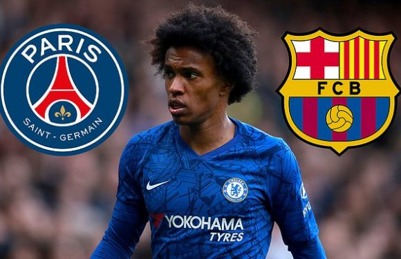 PSG and Barcelona 'favourites to land Chelsea winger Willian'