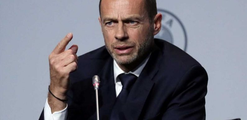 Champions League could finish behind closed doors, admits Uefa president Aleksander Ceferin