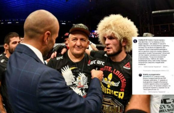 Khabib Nurmagomedov hits out at COVID-19 deniers amid father's ongoing health battle