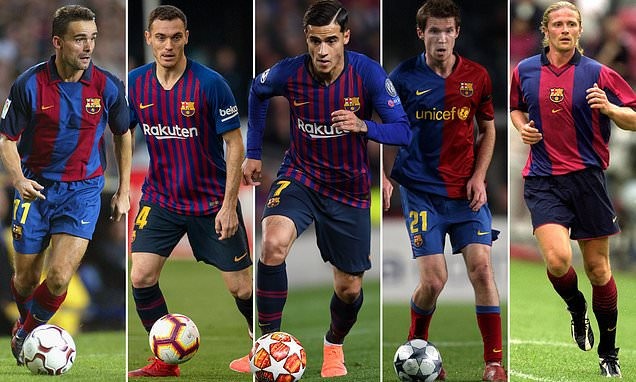 Barcelona's Premier League flops, from Overmars to Coutinho