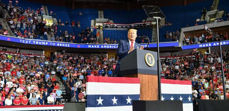 Donald Trump campaign rally does not fill Tulsa arena, and Twitter has sports attendance jokes
