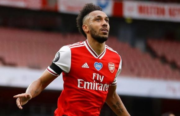 Arsenal star Pierre-Emerick Aubameyang responds as team-mate begs him to sign new contract