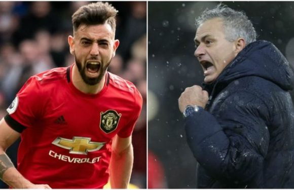 Jose Mourinho implies Tottenham star is better than Man Utd's Bruno Fernandes