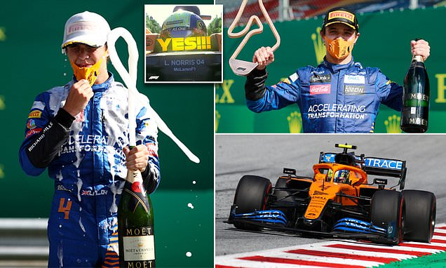 Ecstatic Norris becomes youngest British driver on F1 podium aged 20