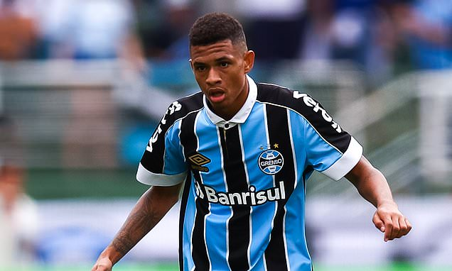 Man City in talks with Gremio over a £4.5m Diego Rosa deal