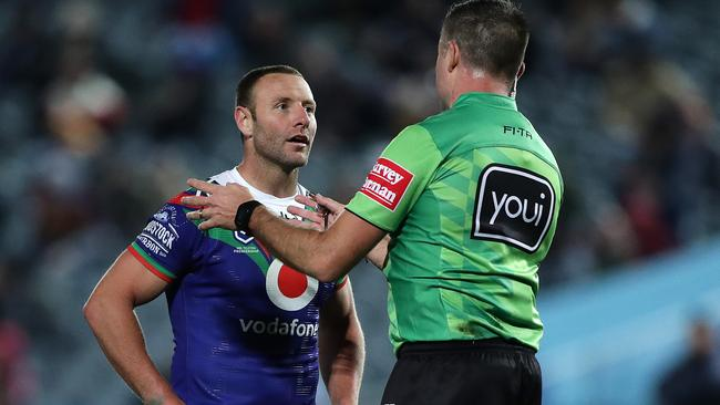 Warriors try disallowed for obstruction in Broncos' controversial captain's challenge