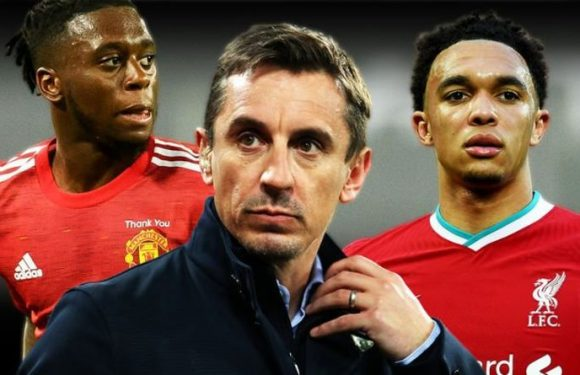 Man Utd legend Gary Neville warns Aaron Wan-Bissaka because of Trent Alexander-Arnold