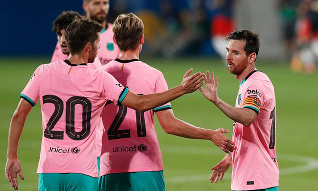 Messi scores first goals since dramatic u-turn to stay at Barcelona