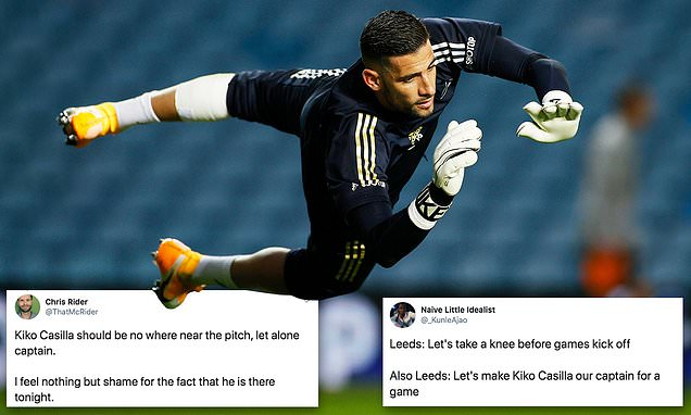 Leeds fans fume after Kiko Casilla is named as CAPTAIN after ban