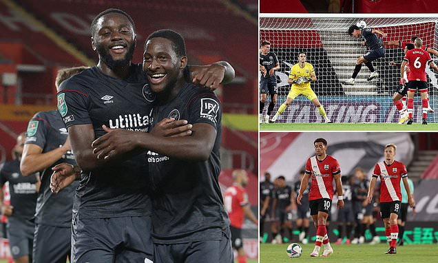 Southampton 0-2 Brentford: Saints suffer Carabao Cup defeat