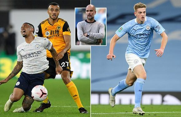 Jesus suffers injury, leaving a 17-year-old as City's only fit striker