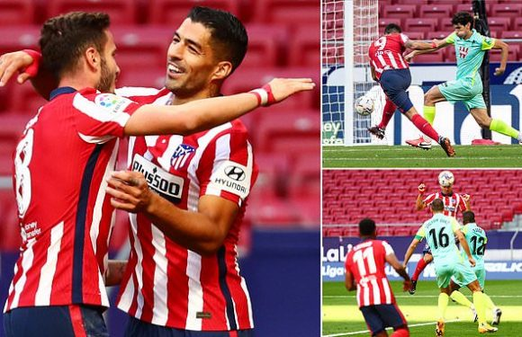 Atletico Madrid 6-1 Granada: Suarez scores fifteen minutes into debut
