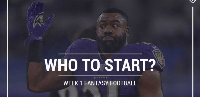 Who to start in fantasy football: Week 1 rankings, start sit advice for PPR, Standard, Superflex scoring