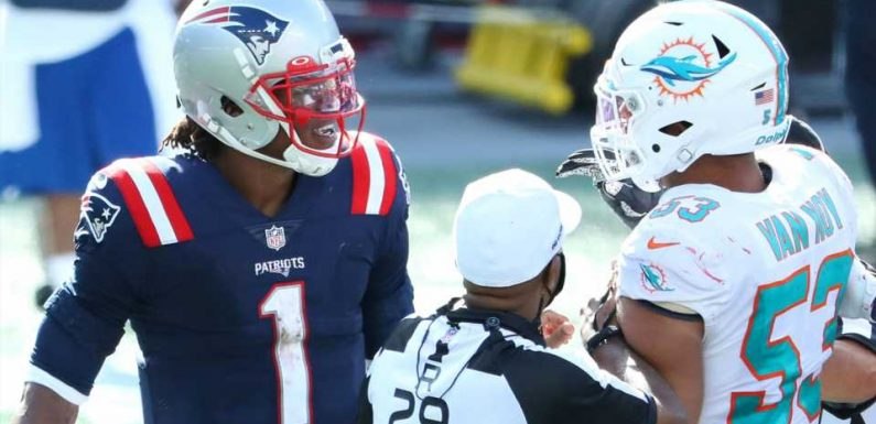 Patriots' Cam Newton explains late-game tussle with Dolphins: 'The College Park almost came out in me'