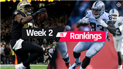 Week 2 Fantasy TE Rankings: Must-starts, sleepers, potential busts at tight end