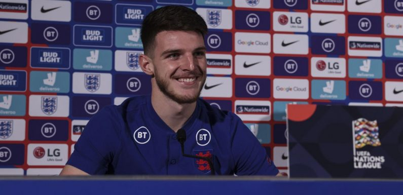 Declan Rice aiming to become England captain after learning from Noble and Kane