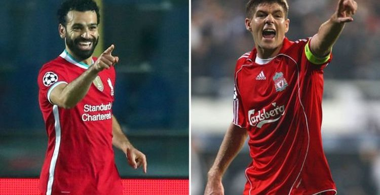 Steven Gerrard sends Mohamed Salah message as Liverpool ace equals his club record