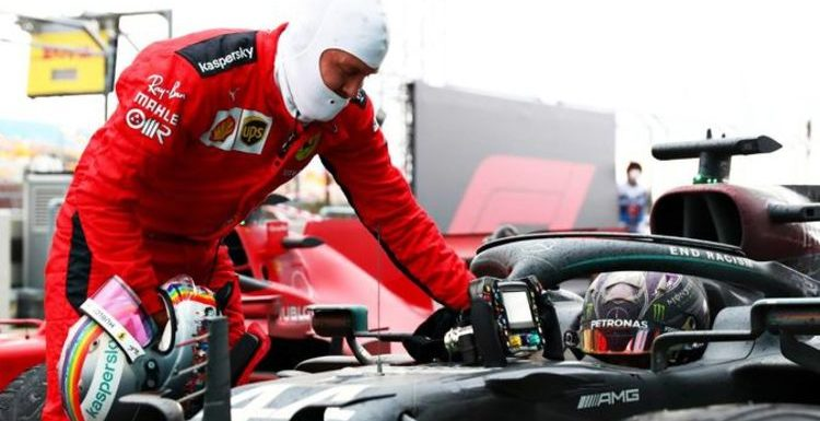 Sebastian Vettel pays classy tribute to F1 rival Lewis Hamilton after seventh title win