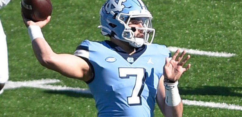 Sam Howell goes off for seven total TDs, throws for 550 yards as North Carolina outlasts Wake Forest 59-53
