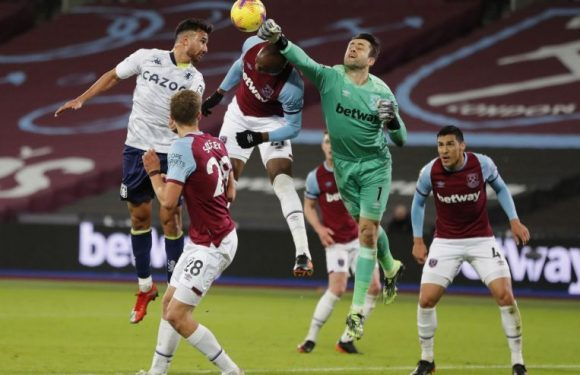 Football: West Ham ride their luck to beat Aston Villa