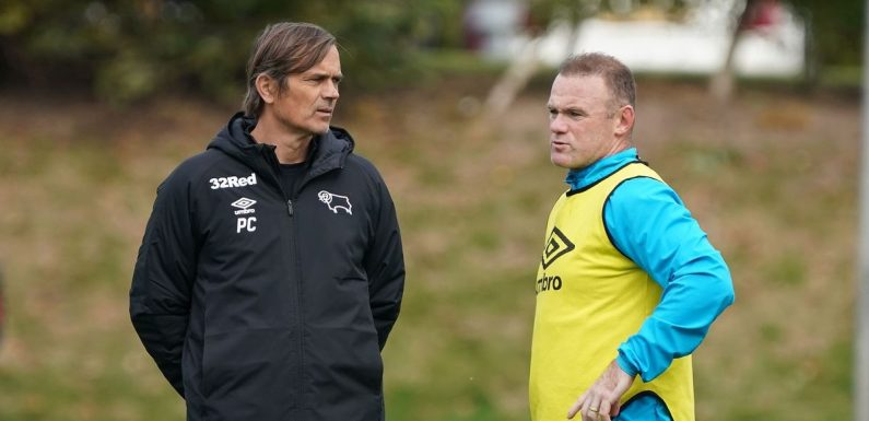 Wayne Rooney responds to Phillip Cocu's sacking as Derby job up for grabs