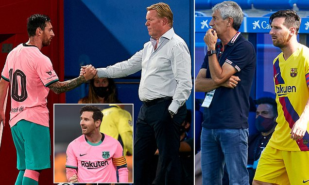 Koeman REJECTS Setien's view that Messi is 'difficult to manage'