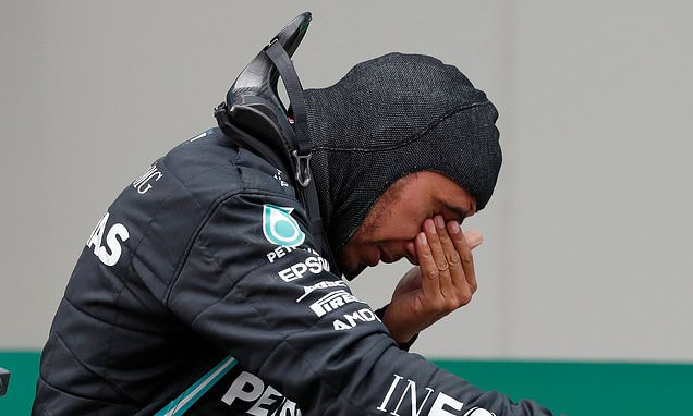 Hamilton delivers emotional message as he crosses the line