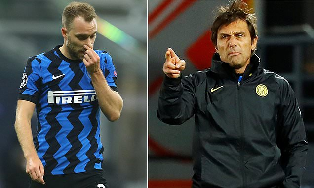 Antonio Conte says decision to bench Christian Eriksen is for Inter