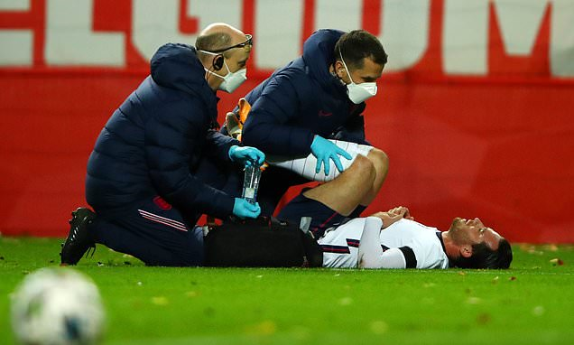 Ben Chilwell limps out of England's game with lower back injury