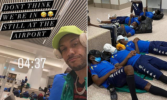 Aubameyang complains he is being held HOSTAGE at Gambia airport