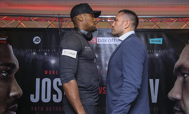Anthony Joshua vs Kubrat Pulev is set to move to Wembley Arena