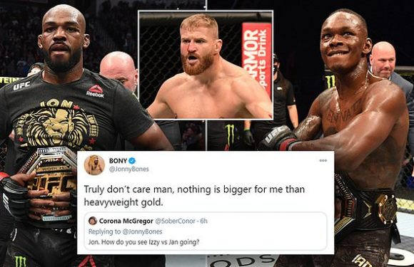Jones claims he 'DOESN'T CARE' about Adesanya going for his old belt