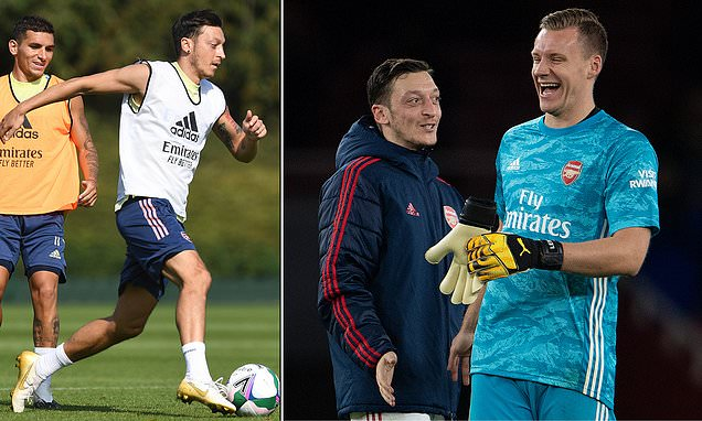 Arsenal goalkeeper Leno defends Ozil as 'absolutely professional'