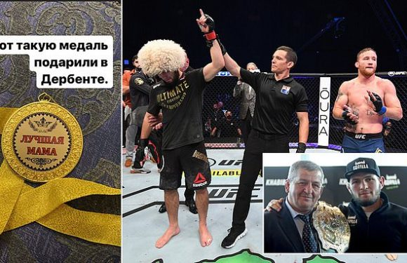 UFC's Khabib bizarrely awarded 'Best Mum' medal in his home country