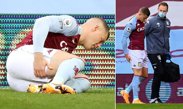 Villa midfielder Barkley forced off after suffering hamstring injury
