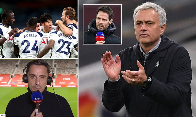 Mourinho hails by Neville and Redknapp for 'masterclass' against City