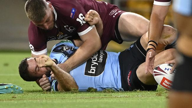 Rugby league world savages Jai Arrow act as James Tedesco knocked out of State of Origin decider