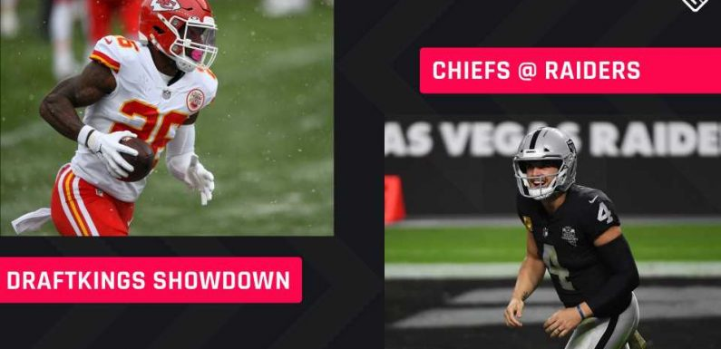 Sunday Night Football DraftKings Picks: NFL DFS lineup advice for Week 11 Chiefs-Raiders Showdown tournaments