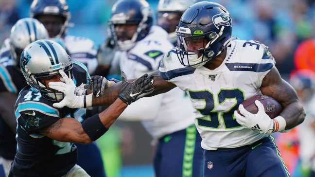 Seahawks without RBs Carson, Hyde vs. Rams